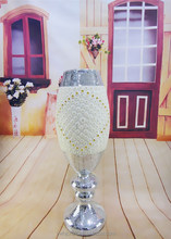 High grade hangcraft ceramic vase with glass crystal