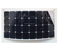 100W top quality poly and mono high efficiency flexible solar panel for home use and inverter manufacturer in china