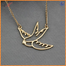 NC1259 18K gold plated swallow pendant choker necklace gift girls friendship
