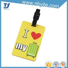 original designed pvc military bright neon luggage tags