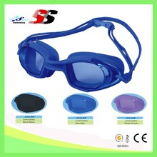 provide buyers with PC lens, silicone gasket and straps swim goggle comfortable to wear, waterproof swim goggle