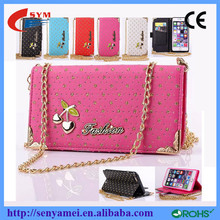 New Products cherry mobile phone bags & cases for Iphone 6 cover wallet high quality case