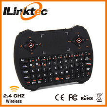 2.4g wireless mini usb received keyboard with air mouse, voice, multi-touch, backlight in one for smart TV