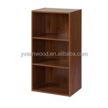 2015 Particle board KD Design melamine colors bookcase/book shelf
