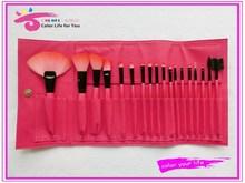 Wholesale professional 18pcs makeup brush pink color