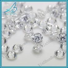 CZ supplier round brilliant cut 1mm white zircon gemstone