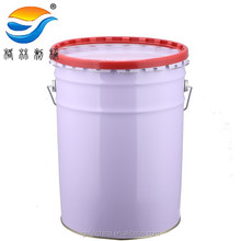 Tin pail with lid and handle,18L tinplate pail for paint, paint container
