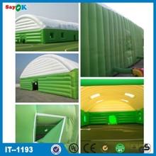 venta caliente personalizado inflables cancha de tenis para el deporte eventos