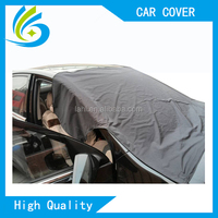 Manufacturer polyester silk fabric magnetic sun protection car windshield snow cover sun shade price