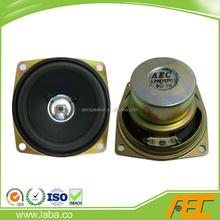 2.5 inch 66*66mm 8 ohm 2 watt professional square paper cone speaker