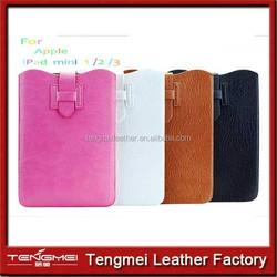 Classics Style PU Leather Case Cover Bag leather case for iPad mini 2