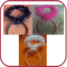 party supplier white angel halo halloween headband headdress PGAC-0744