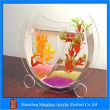 Acrylic attractive different shape clear mini fish tank