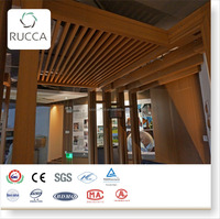 Foshan WPC/Wood PVC Wood Assembling 7A Ceiling for Interior Decoration of Building Materials 25X80mm