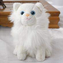 Stuffed Customized Toy Lifelike Cat/Soft Cute Animal Toy White Cat/Stuffed Animated Toy Kitten