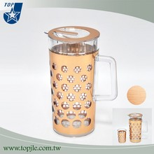 Copper color plastic water filter pitcher