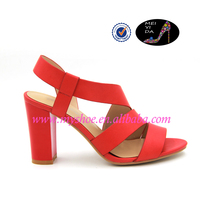 In summer 2015 with all-match sandals female sexy Rome rough heels toe