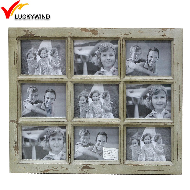 Wholesale Distressed Vintage 9-opening Window Wooden Collage Photo ...