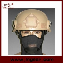 Airsoft MICH 2002 Glass Fiber Helmet with NVG Mount and Side Rail Tactical Gear