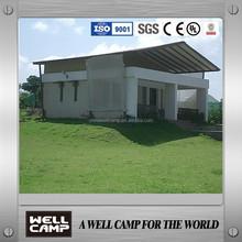 village small cabin prefabricated house/prefab house concrete villa for living restaurant in india
