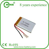 pl523450 1000mah li polymer battery 3 7v 523450a battery 523450