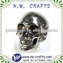 plateado cabeza de resina cráneo decoraciones