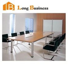 LB-JL7008 Conference table modern design, meeting table desk, metal wood meeting table with power