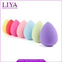 Fashion tear drop shape free latex sponge make up sponge make up puff eggs