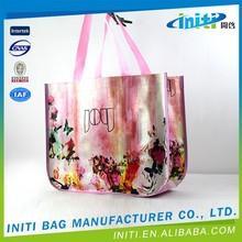 Reusable folding carrier pp woven shopping bag
