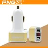 PNGXE Wholesale Double Speed Fast Charge 3.1A Universal led usb car charger 2 port for iphone 12v car battery charger