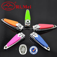 Colorful small nail clipper with plastic cover