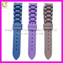 Hot fashion 19mm 24mm silicone rubber watch band with buckle /cool shape watch straps buckle/nature silicone rubber watch buckle