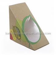 Window sandwich/cake packing boxes / sandwich wedges