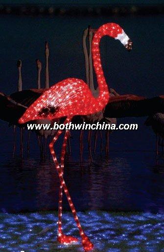 Led animado 3D animal de las luces del adorno / hermosa flamingo