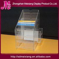 cakes acrylic display shelf MX3169 store retail table top 2 tiers acrylic spice display rack
