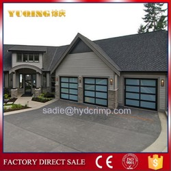 YQG-02 automatic aluminum frame glass garage door, garage door window curtains