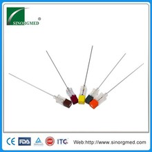 Gold Level Manufacturer Disposable Sizes of Quincke Tip Puncture Needle