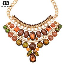 Promotional Indian Style Statement Wholesale Costume Jewelry Necklace