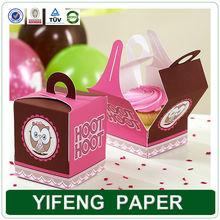 custom paper printing individual packaging folding cupcake box