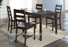 dark brown dinning table and chairs