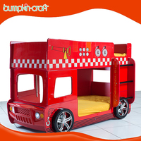 China supplier fashion school bus MDF KID bunk bed with stair