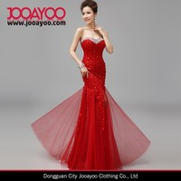New Elegant Strapless Sequined Embroidered Lace Fishtail Dress Long Bride Wedding Dresses