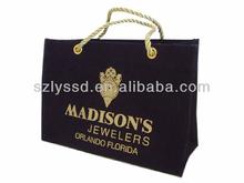 Oro- planchas de impresión yute bolsa de regalo