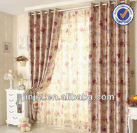 MT 4626 rideaux curtain fabric flocking organza polyester fabric window curtain