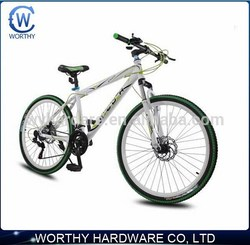 26 inch alloy fork 27 speed frames bycicles with Front and rear hydraulic brake