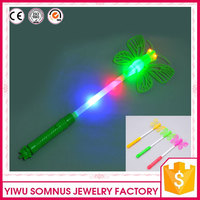 plastic / pvc butterfly magic wand with led red / green / blue light
