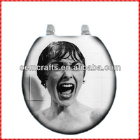 Fancy resin sexy lady custom cloth toilet seat cover