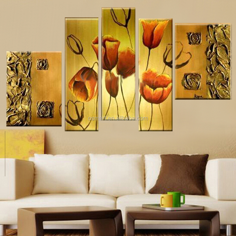 Good Quality Tulip Flower Canvas Oil Paintings For Home Hotel Wall ...