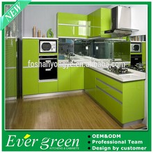 2015 Foshan North America project modern lacquer kitchen cabinet storage closet storage DIY EVER GREEN YY-LC-6600