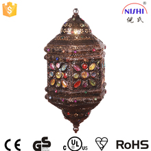 hot selling moroccan wholesale antique moroccan lamp/colorful moroccan lantern,pendant led lighting NS-124019